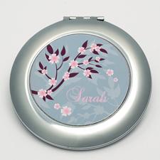 Blüten Runder Spiegel für die City Bag