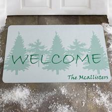 Willkommen im Winter Fußmatte Schmutzfangmatte Personalisieren