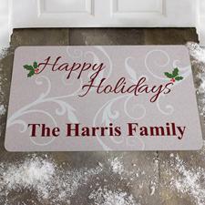 Familie und Weihnachten Fußmatte Türmatte Personalisieren