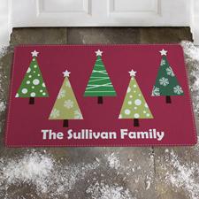 Fußmatten selbst gestalten zu Weihnachten, Rot