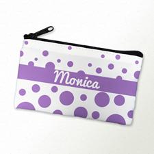 Lavendel Punkte Schminktäschchen 10,2 x 17,8 cm Beidseitig gleich personaliseren
