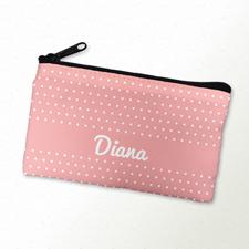 Pinke Polka Pünktchen Kosmetiktasche 10,2 x 17,8 cm Beidseitig gleich Personalisieren