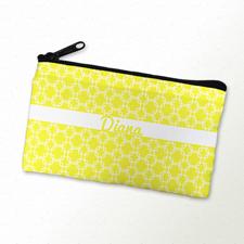 Gelbes Schminktäschchen 10,2 x 17,8 cm Vorder und Rückseite gleich personalisieren