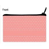 Pinke Punkte Kosmetiktasche 12,7 x 20,3 cm Beidseitig Personalisieren