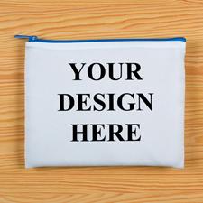 Blauer Zipp Beide Seiten gleich Personalisieren 20,3 x 25,4 cm Clutch