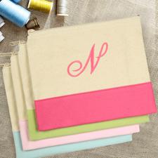 Personalisiert Besticken Kosmetiktasche Monogramm Pink 19 x 23 cm