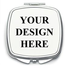 Quadratischer Taschenspiegel Personalisieren mit Foto und Text