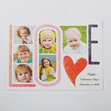 LOVE heißt Liebe Fotokarte 127x178