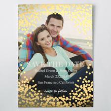 Versprechen Gold Save the Date Einladungskarte Personalisieren 127x178