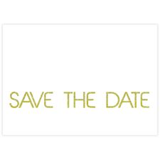 Unendlich Gold Save the Date Einladungskarte Personalisieren 127x178