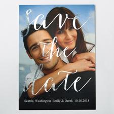 Silber Funken Save the Date Einladungskarte Personalisieren 127x178