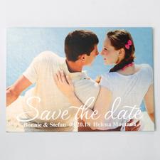 Verliebt Silber Save the Date Einladungskarte Gestalten 127x178