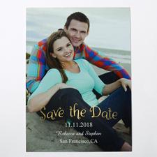 Natürlich Gold Save the Date Einladungskarte Gestalten 127x178