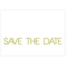Glänzendes Silber Save the Date Einladungskarte Gestalten 127x178