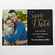 Wonne in Gold Save the Date Einladungskarte Gestalten 127x178