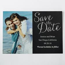 Wonne in Silber Save the Date Einladungskarte Gestalten 127x178
