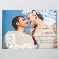 Strahlendes Glück Silber Save the Date Einladungskarte Gestalten 127x178