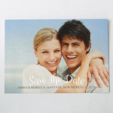 Einfach Silber Save the Date Einladungskarte Gestalten 127x178