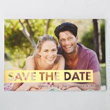 So Lieb Gold Save the Date Einladungskarte Gestalten 127x178