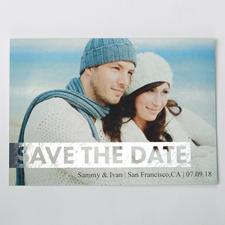 So Lieb Silber Save the Date Einladungskarte Gestalten 127x178