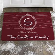 Rot Merry Christmas Türmatte Fußmatte Schmutzfangmatte Personalisieren 43x69cm