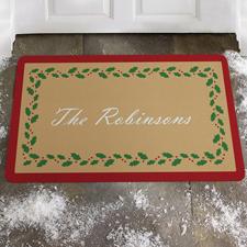Weihnachtsschmuck Fußmatte Schmutzfangmatte Personalisieren 43x69cm