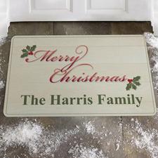 Frohe Weihnachten Fußmatte Schmutzfangmatte Personalisieren 43x69cm