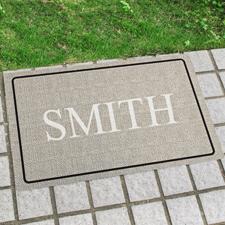Monogramm Fußmatte Schmutzfangmatte Personalisieren 43x69cm