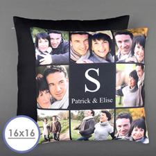 Achter Collage Personalisierter Kissenbezug 40,6 x 40,6 cm