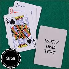 Große Spielkarten, Hochformat, Standardschrift