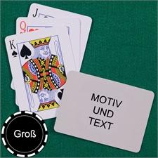 Große Spielkarten, Querformat, Standardschrift
