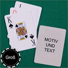 Große Spielkarten, Hochformat, Großdruck