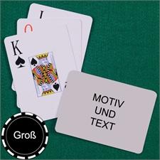 Große Spielkarten, Querformat, Großdruck