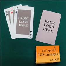 Große Spielkarten, Hochformat, Standardschrift, Vorder- und Rückseite kundengestaltbar