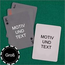 Große Spielkarten, Hochformat, Standardschrift, Design einfach zweiseitig