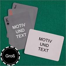 Große Spielkarten, Querformat, Standardschrift, Design einfach, beidseitig gestaltbar