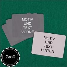 Große Spielkarten, Querformat, beidseitig leer