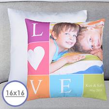 Love Foto Herz Personalisierer Kissenbezug 40,6 x 40,6 cm