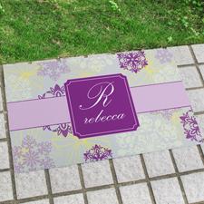 Frühlingsblumen Türmatte Fußmatte Schmutzfangmatte Personalisieren 43x69cm