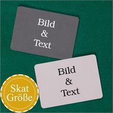 SKAT Kartenspiel Blanko zum vollständigen Personalisieren Querformat