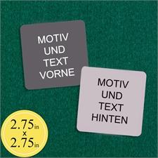 Blanko Spielkarten Personalisieren 70 x 70 mm Quadrat