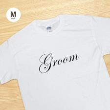 Bräutigam Weiß T-Shirt Baumwolle Gestalten Medium Erinnerung