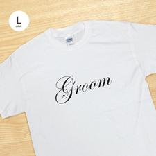 Bräutigam Weiß T-Shirt Baumwolle Gestalten Große Größe Large Erinnerung