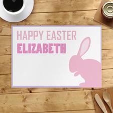 Platzdeckchen Pink Osterhase Frohe Ostern Personalisieren