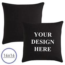 Foto Kissenbezug, schwarz  40,6 x 40,6 cm