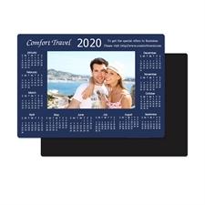 Blau 2018 Fotomagnetkalender Bild in Mitte 8,9 cm x 12,7 cm Personalisieren