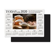 Weiß 2018 Fotomagnetkalender Bild in Mitte 8,9 cm x 12,7 cm Personalisieren