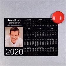 2018 Fotomagnetkalender Schwarz 8,9 cm x 12,7 cm Personalisieren