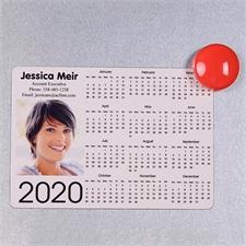 Weiß 2018 Fotomagnetkalender 8,9 cm x 12,7 cm