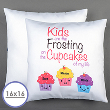 Cupcakes Personalisierter Kissenbezug 40,6 x 40,6 cm